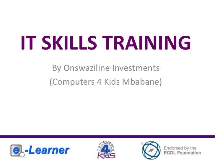 IT Skills Training Mbabane