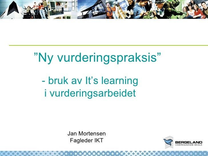 It's learning og vurdering for læring