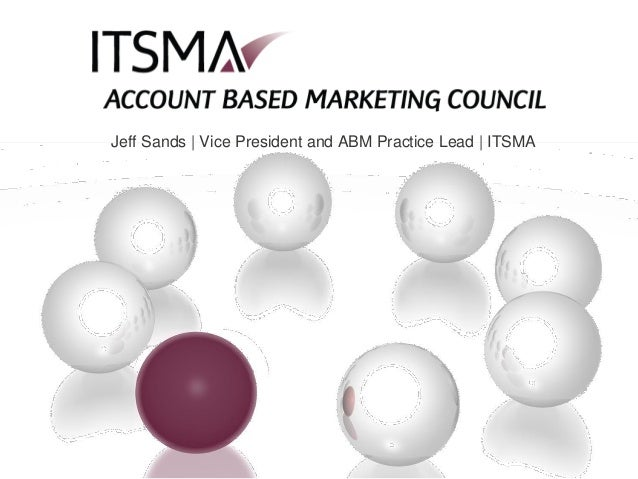Jeff Sands | Vice President and ABM Practice Lead | ITSMA