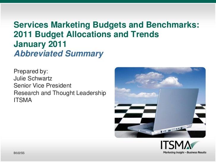 ITSMA Budget Study 2011 Abbreviated Summary