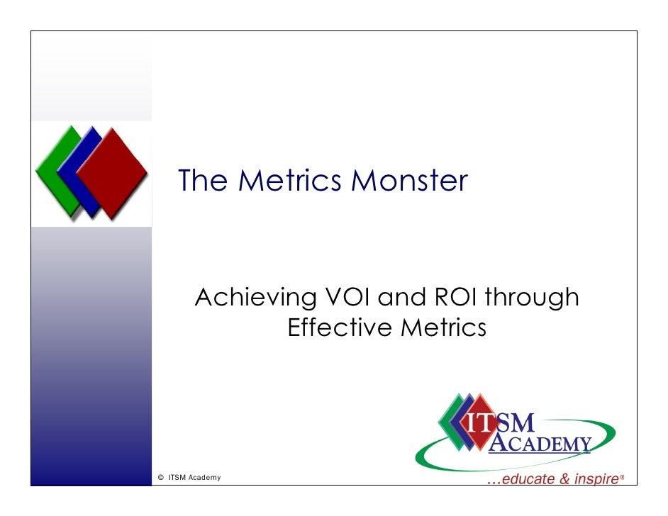 The Metrics Monster           Achieving VOI and ROI th         A hi i           d      through                            ...