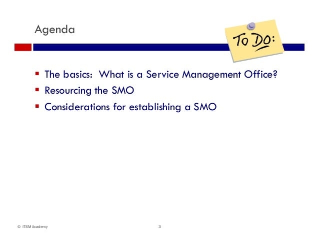 Should You Establish A Service Management Office Smo