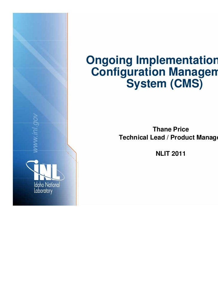Ongoing Implementation of a               Configuration M               C fi     ti Management  t                     Syst...