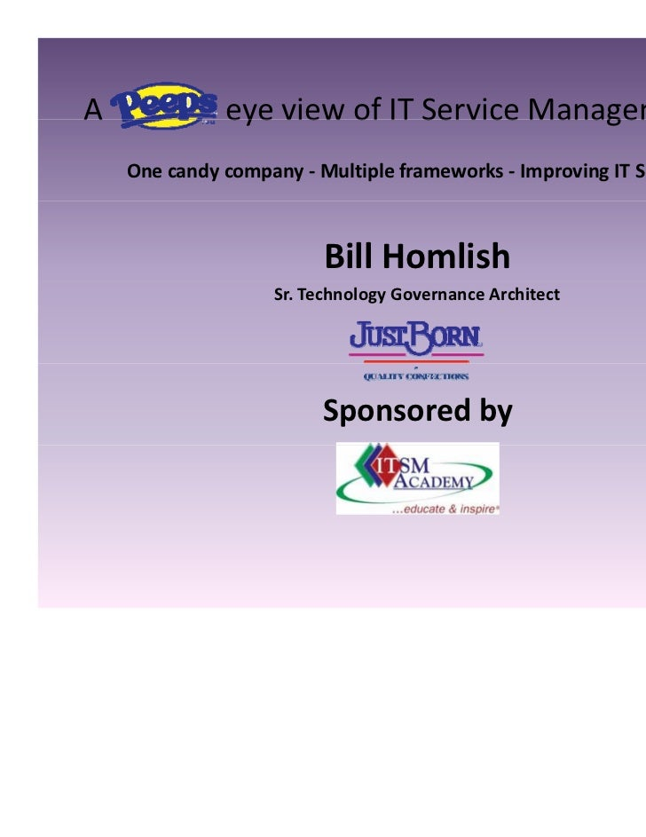 Peeps Eye View of IT Service Management