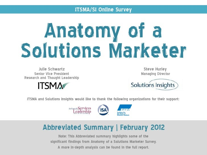 Anatomy of a Solutions Marketer