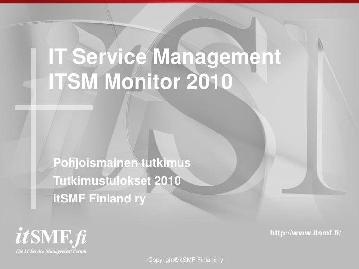 itSMF Finland: ITSM-tutkimus 2010