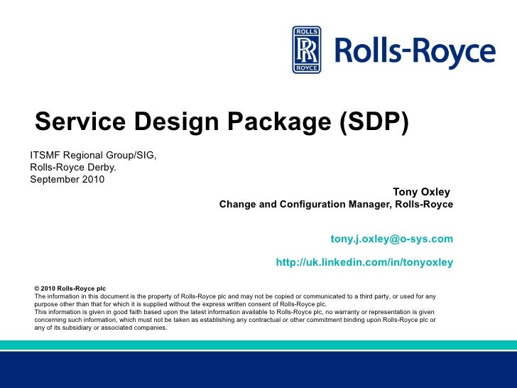 Itsmf regional group service design package for Itil service design document template