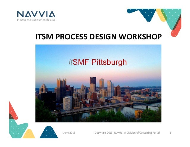 ITSM	   PROCESS	   DESIGN	   WORKSHOP	    June	   2013	    Copyright	   2013,	   Navvia	   -­‐	   A	   Division	   of	   C...