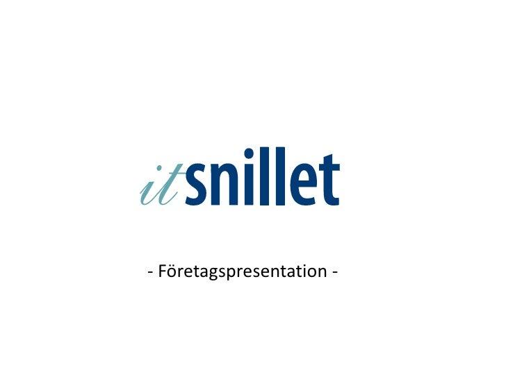 - Företagspresentation -