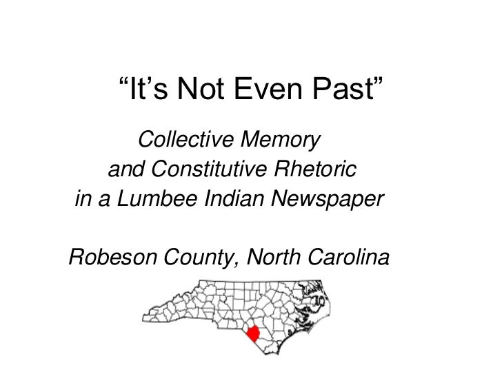 It's Not Even Past - Carolina Indian Voice