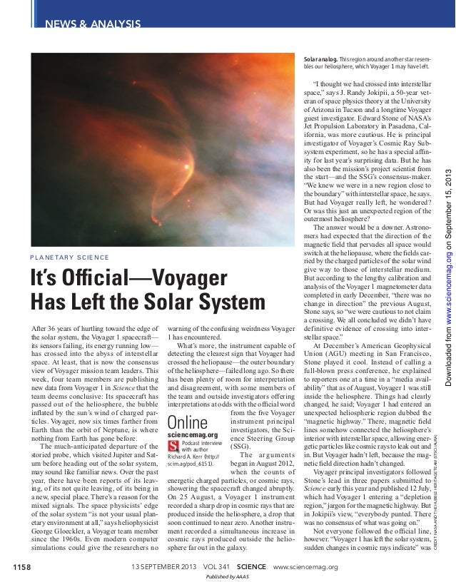 13 SEPTEMBER 2013 VOL 341 SCIENCE www.sciencemag.org1158 NEWS & ANALYSIS CREDIT:NASAANDTHEHUBBLEHERITAGETEAM(STSCI/AURA) A...