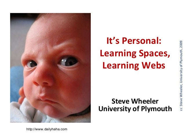 It's Personal:                                                    cc Steve Wheeler, University of Plymouth, 2009          ...