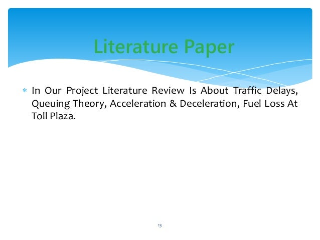 Literature review on transportation