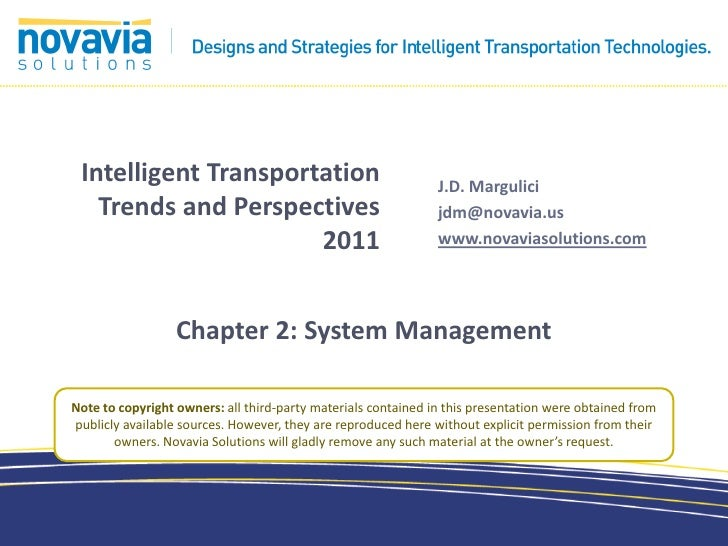 Intelligent Transportation                                    J.D. Margulici   Trends and Perspectives                    ...