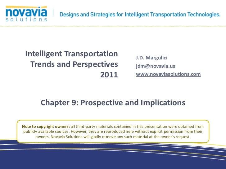 Intelligent Transportation Trends chpt.9 - Prospective and Implications