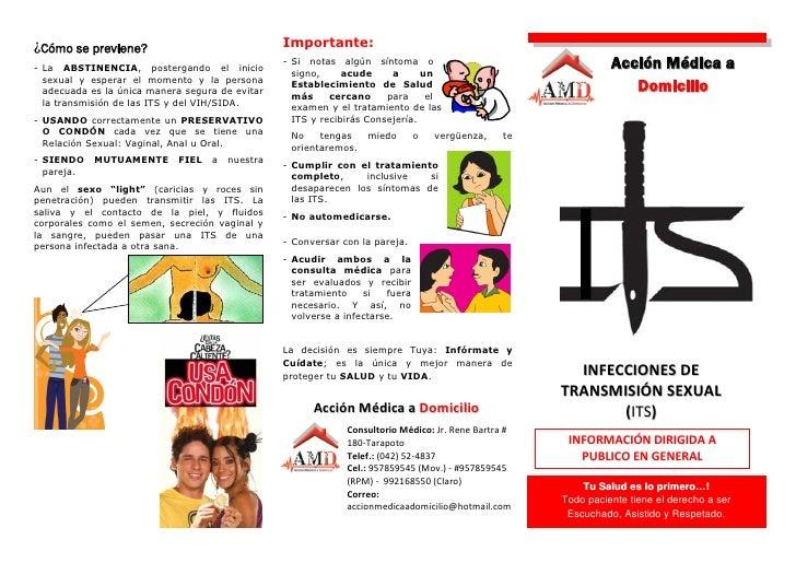 Infecciones de Transmision Sexual (triptico)