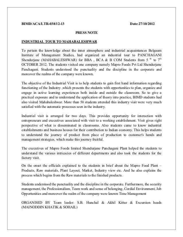 BIMD/ACA/LTR-038/12-13                                                      Date:27/10/2012                               ...