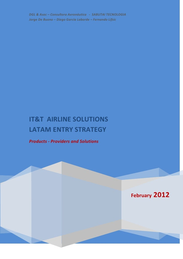 IT&T Airlines Solutions   Latam Market Overview