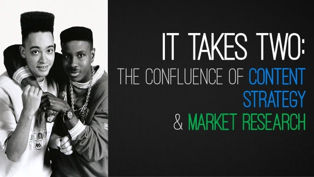 IT TAKES TWO: THE CONFLUENCE OF CONTENT STRATEGY & MARKET RESEARCH