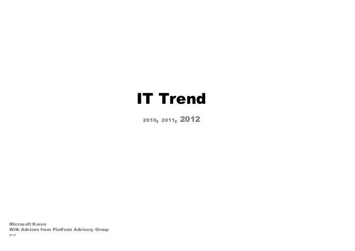 It trend 2012