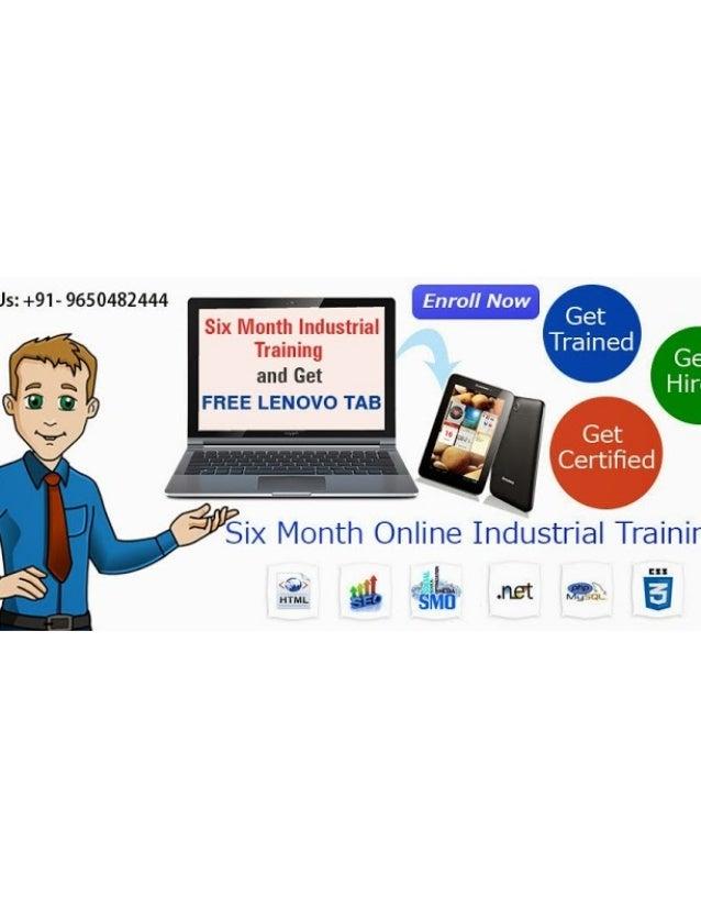Free Internship Training Programs | Free Industrial Training Certificate..9650482444