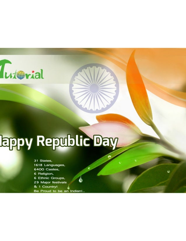 iTutorial wishing all of you a HAPPY REPUBLIC DAY
