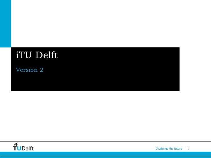 iTU Delft app version 2