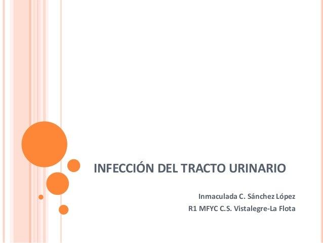 INFECCIÓN DEL TRACTO URINARIO Inmaculada C. Sánchez López R1 MFYC C.S. Vistalegre-La Flota
