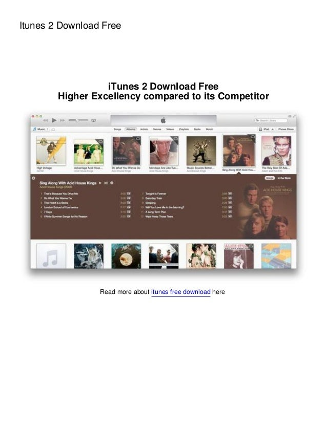 Itunes 2 Download Free