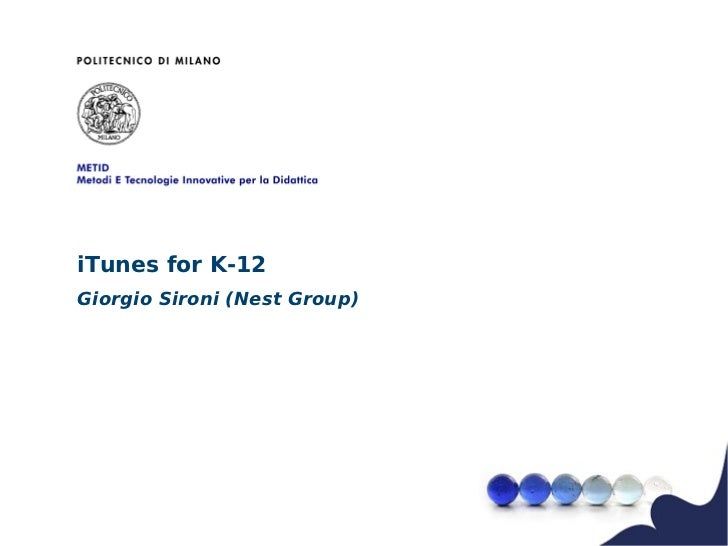I tunes for k 12