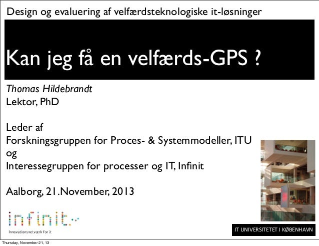 Kan jeg få en velfærds-GPS? af Thomas Hildebrandt, ITU
