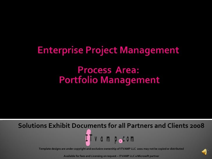 Solutions Exhibit Documents for all Partners and Clients 2008 Template designs are under copyright and exclusive ownership...