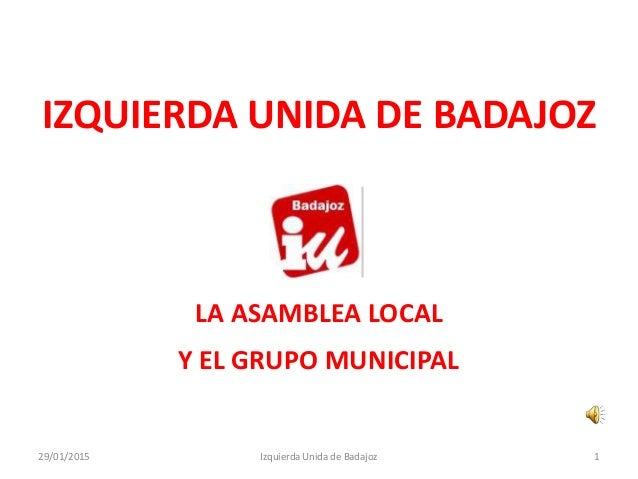 Izquierda Unida - Badajoz - Plan B