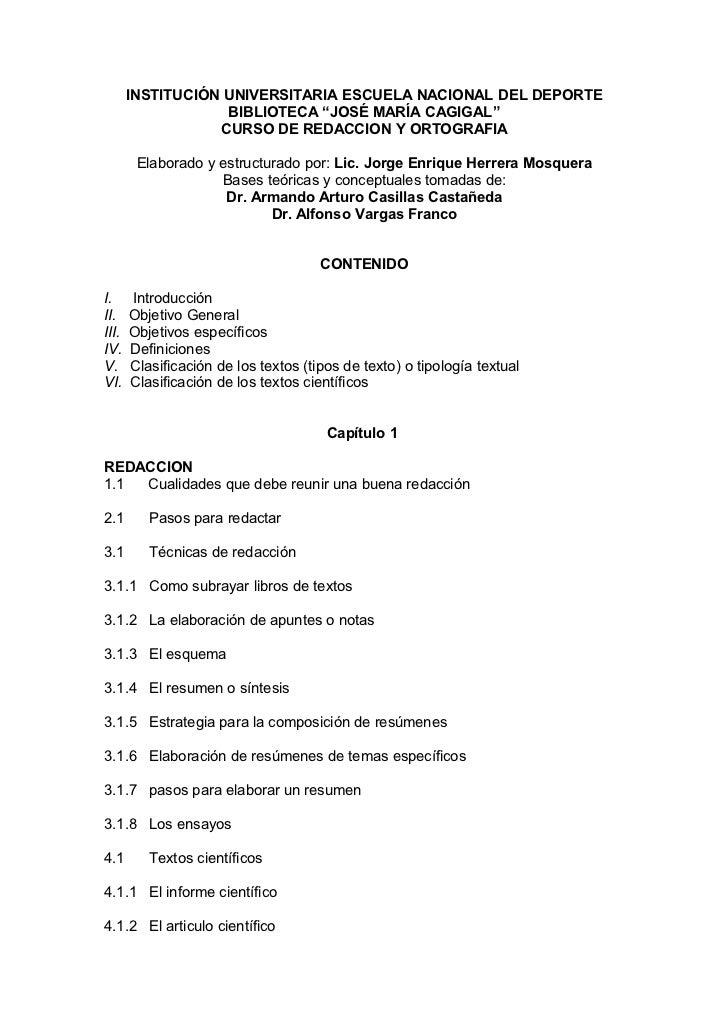 """INSTITUCIÓN UNIVERSITARIA ESCUELA NACIONAL DEL DEPORTE                   BIBLIOTECA """"JOSÉ MARÍA CAGIGAL""""                  ..."""