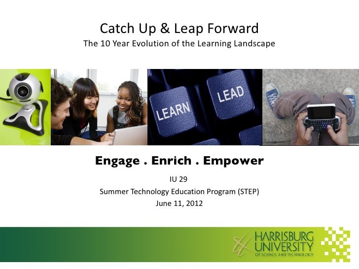 Catch Up & Leap ForwardThe 10 Year Evolution of the Learning Landscape  Engage . Enrich . Empower                      IU ...