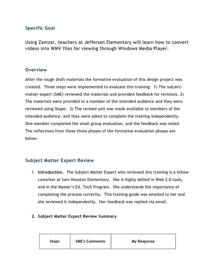 Specific GoalUsing Zamzar, teachers at Jefferson Elementary will learn how to convertvideos into WMV files for viewing thr...