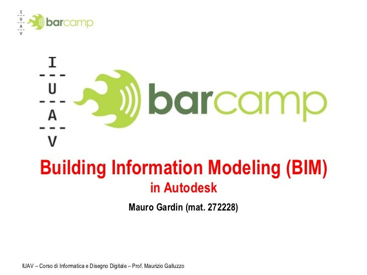 Iuavcamp - Building Information Modeling (BIM)in Autodesk