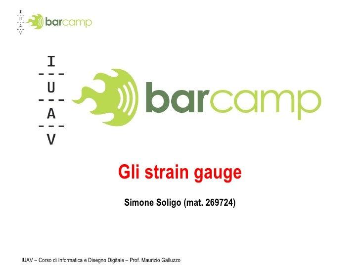Gli strain gauge Simone Soligo (mat. 269724)