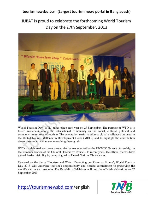 tourismnewsbd.com (Largest tourism news portal in Bangladesh) http://tourismnewsbd.com/english IUBAT is proud to celebrate...
