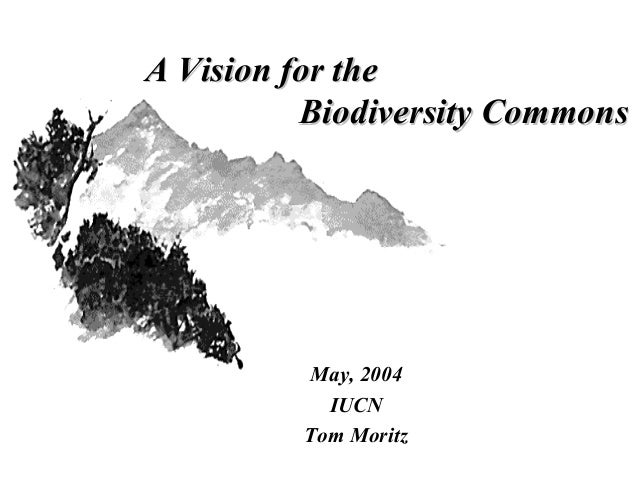 A Vision for theA Vision for the Biodiversity CommonsBiodiversity Commons May, 2004 IUCN Tom Moritz