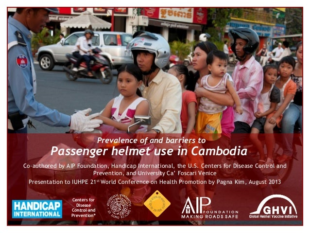 Prevalence of and barriers to passenger helmet use in Cambodia