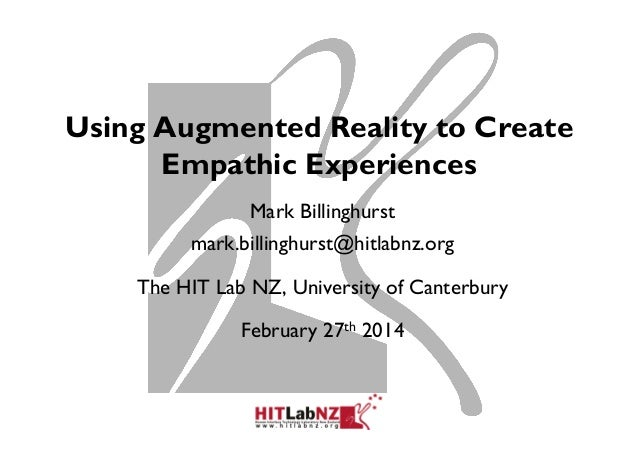 Using Augmented Reality to Create Empathic Experiences