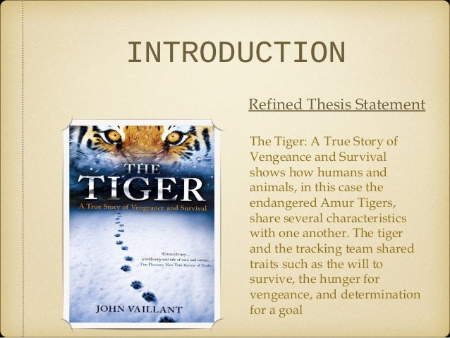 Essay On Tigers
