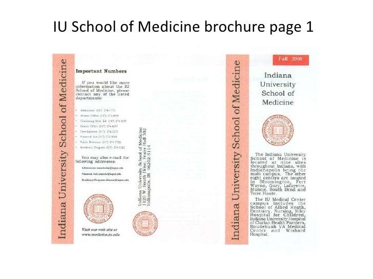 IU School of Medicine brochure page 1<br />