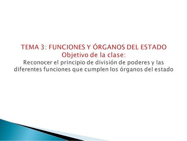 Órganos, funciones del estado y sistema democrático chileno