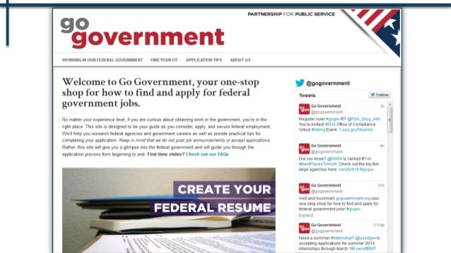 Government jobs resume