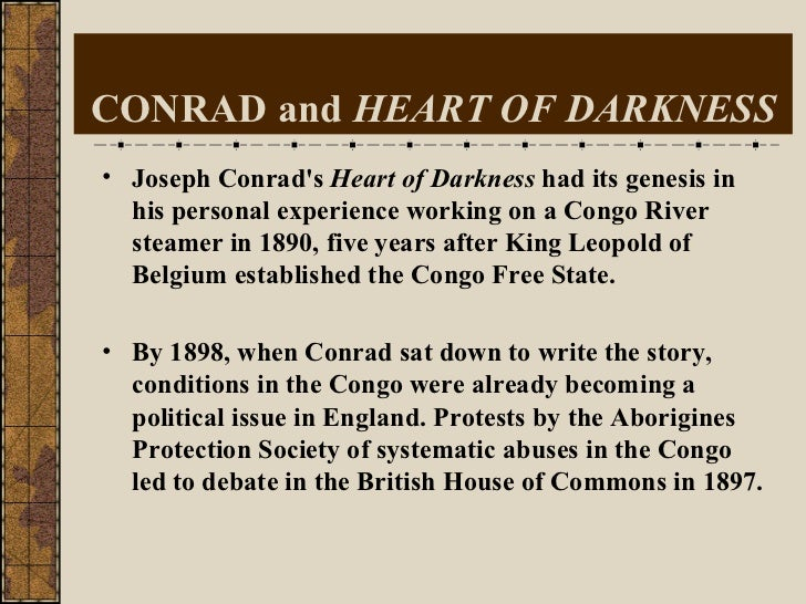 narrative style in conrads heart of Conrad's heart of darkness the relation between narrative style and moral judgement in literature is an issue in aesthetic philosophy that stretches back to.