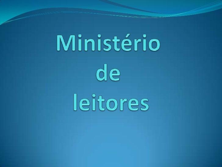 IV Ministério de leitores
