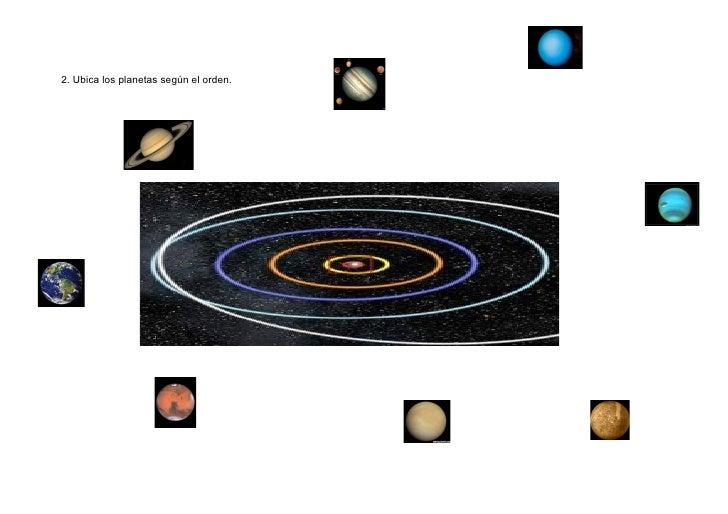 Iv  ubicar los planetas en su orden.