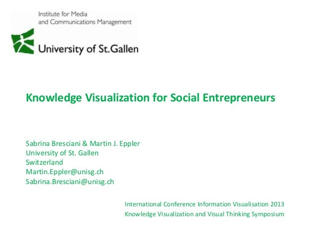 Knowledge Visualization for Social Entrepreneurs International Conference Information Visualisation 2013 Knowledge Visuali...